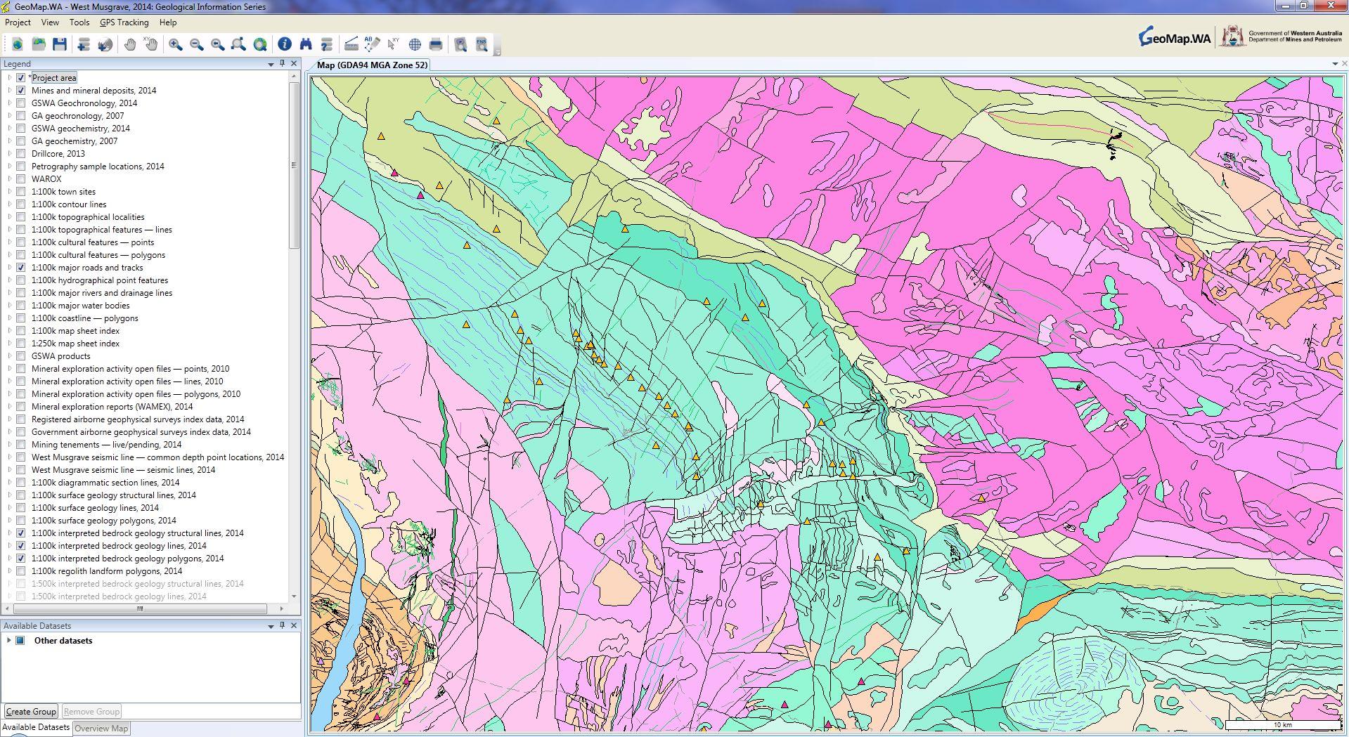 GIS viewer for Windows (GeoMap.WA)